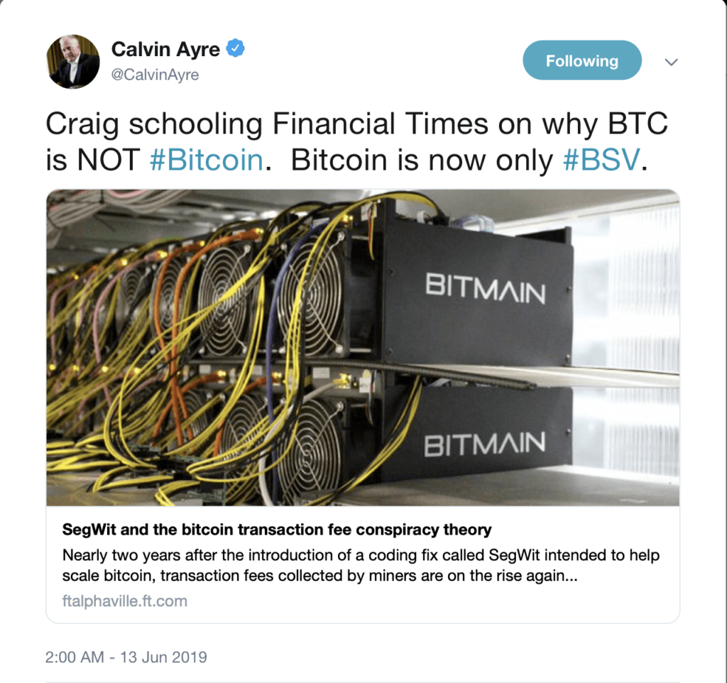 bitcoin sv, craig wright, bitcoin