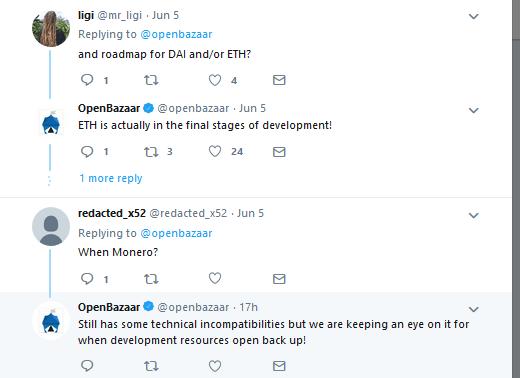 OpenBazaar Confirms Ethereum Support Soon
